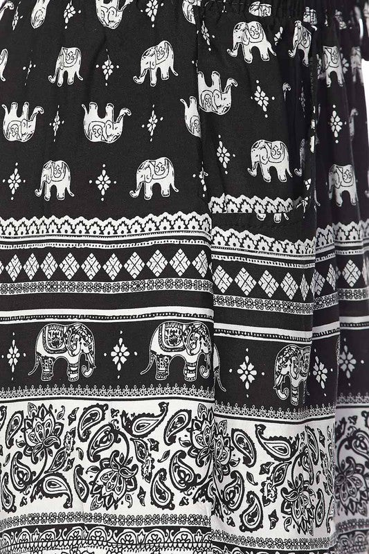 Boho Elephant Shorts - Women's