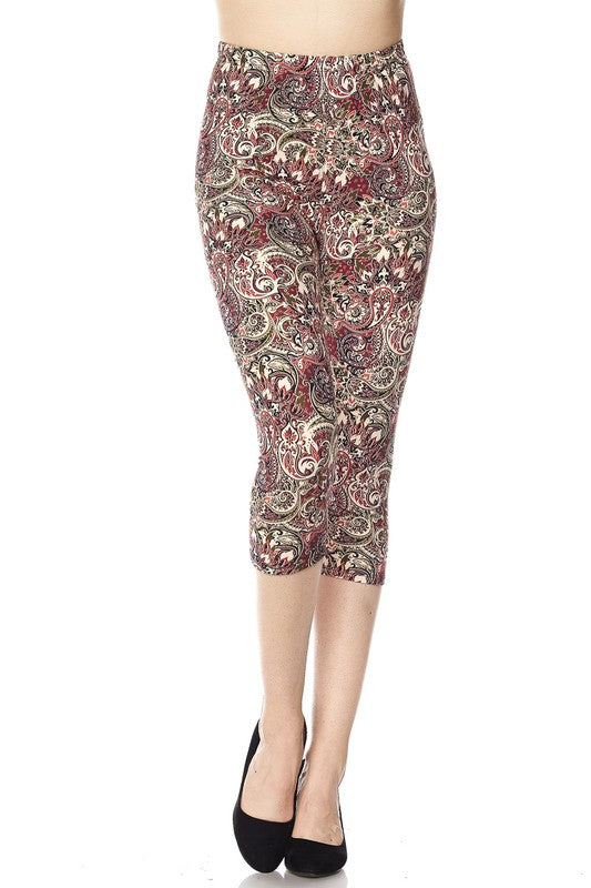 Summertime Paisley - Women's One Size Capris