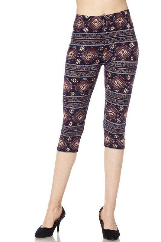 Aztec Beauty - Women's Plus Size Capris