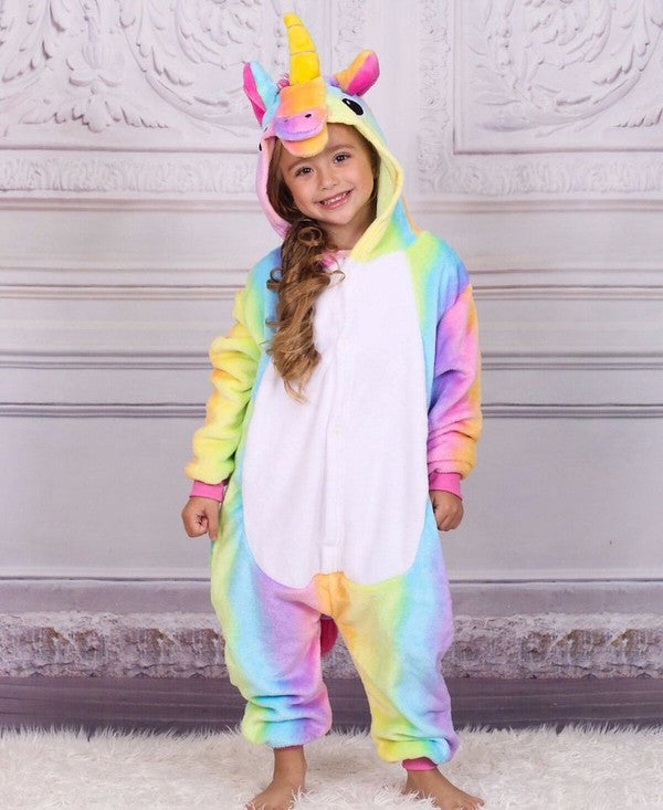 Rainbow Unicorn Onesie Pajama - Girls Pajama