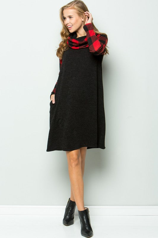 The Courtney - Women's Plus Size Cowl Neck Dress