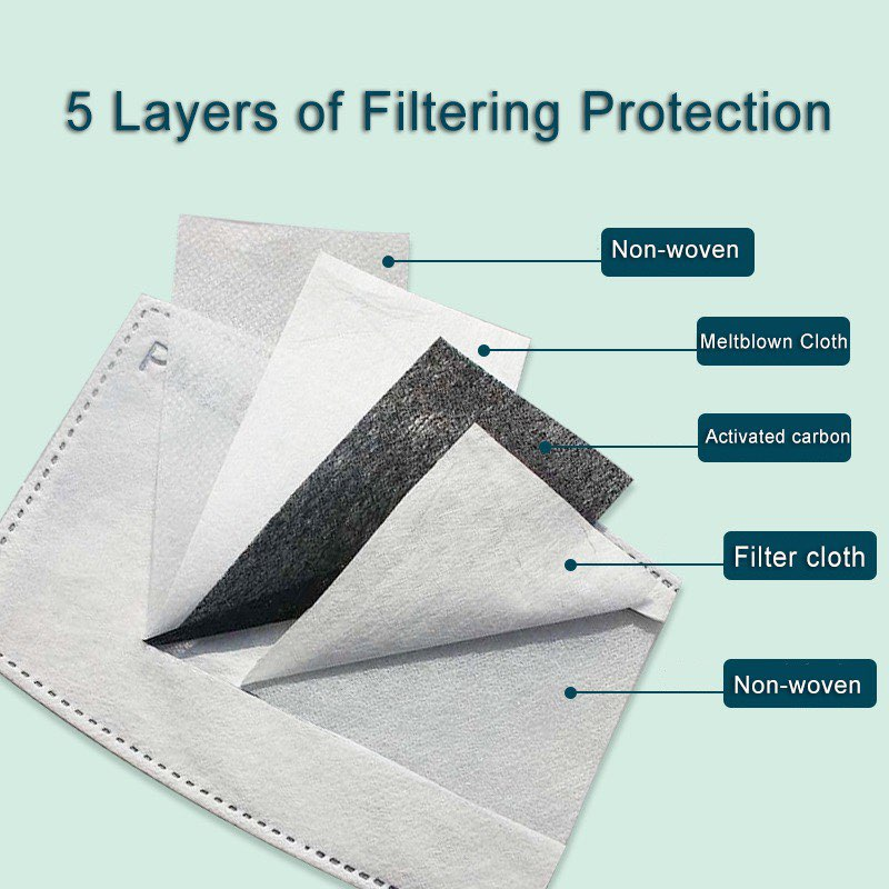 Removable Filter 10 Pack for Personal Face Mask