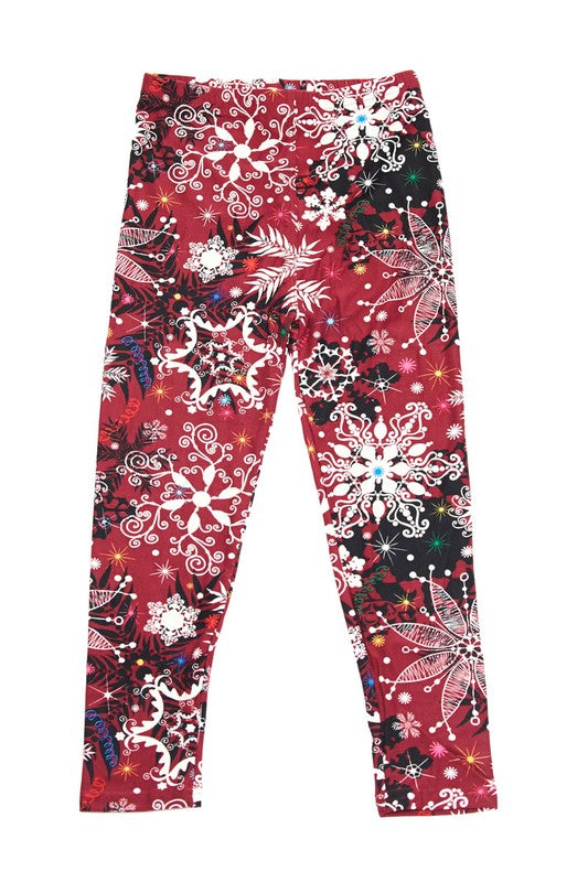 Berry Merry Sparkle -Girls Leggings