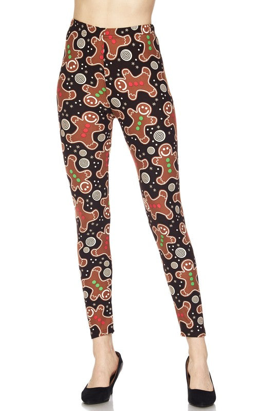 Christmas Cookie - Women's 3X/5X Extra Plus Size Leggings