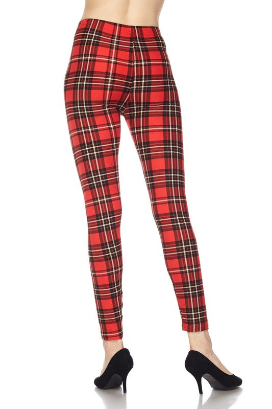 Classic Plaid - Women's Plus Size Leggings