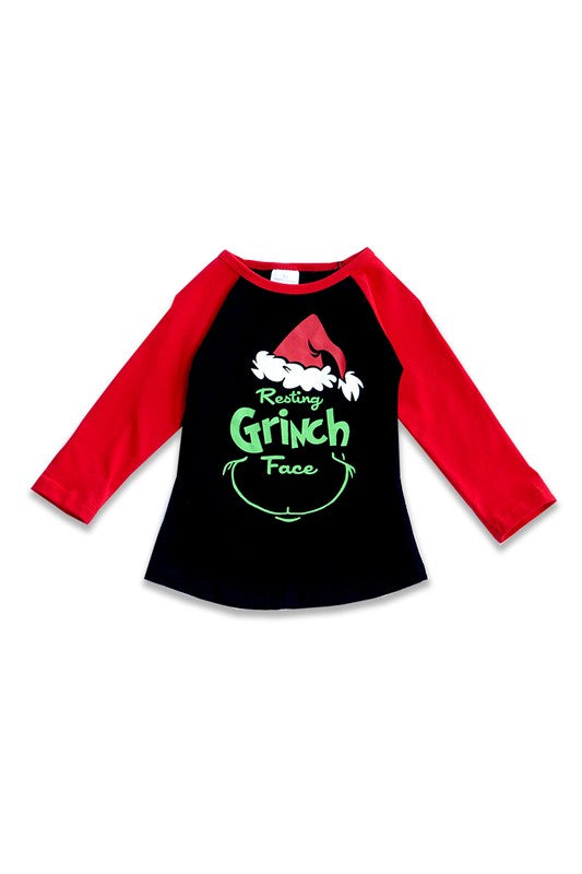 Resting Grinch Face - Kids Top