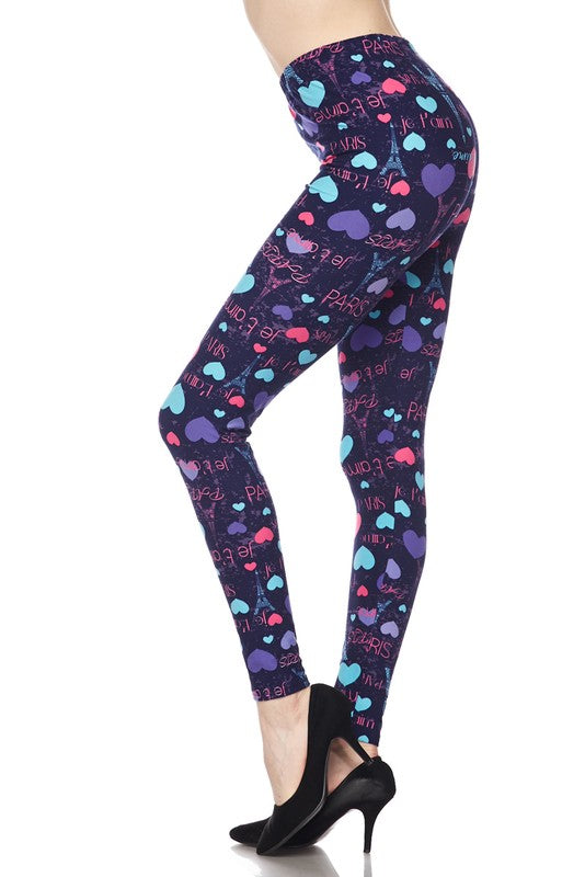 From Paris With Love - Women's Plus Size Leggings