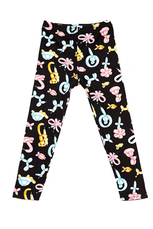 Crazy Balloon Animals - Girls Leggings