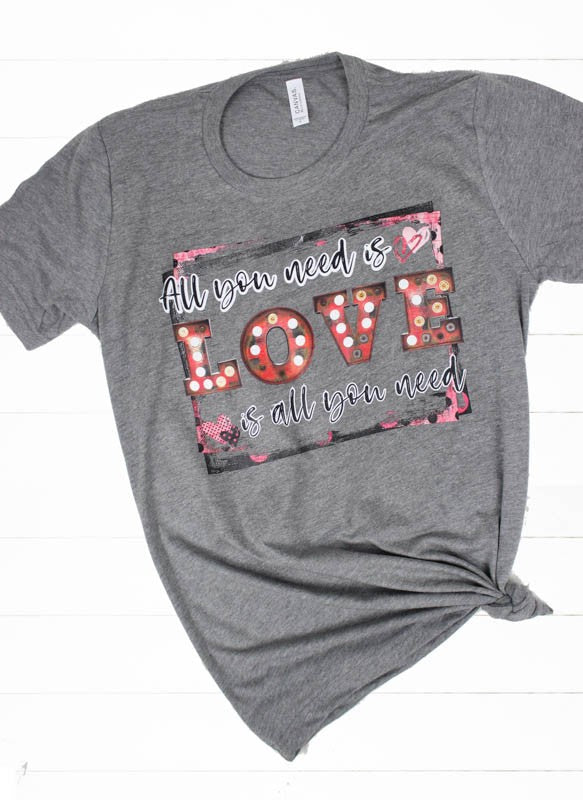 All You Need is Love - Women's Plus Size Top in Heather Gray