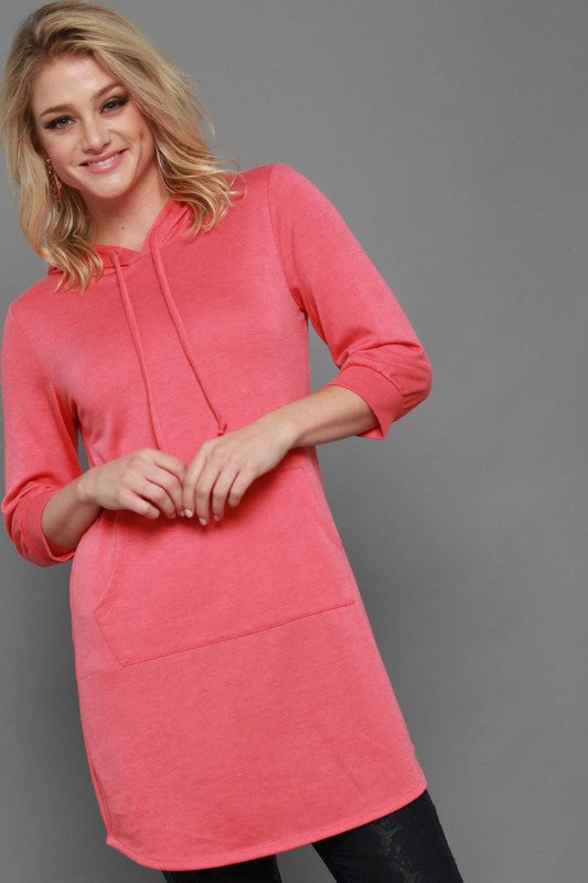 The Penny in Coral - Women's Plus Size Top