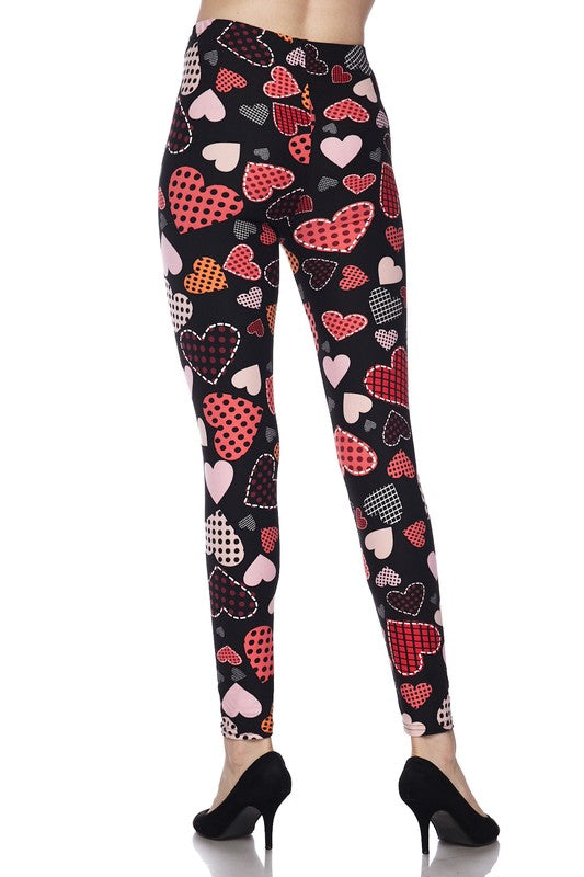 Love Those Patches - Women's Plus Size Leggings