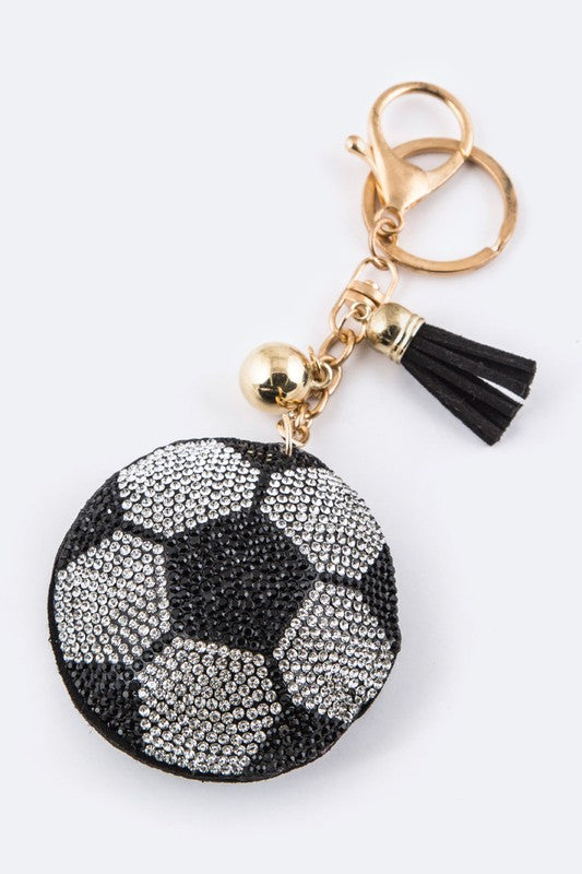 Soccer Ball Charm Key Chain - Apple Girl Boutique