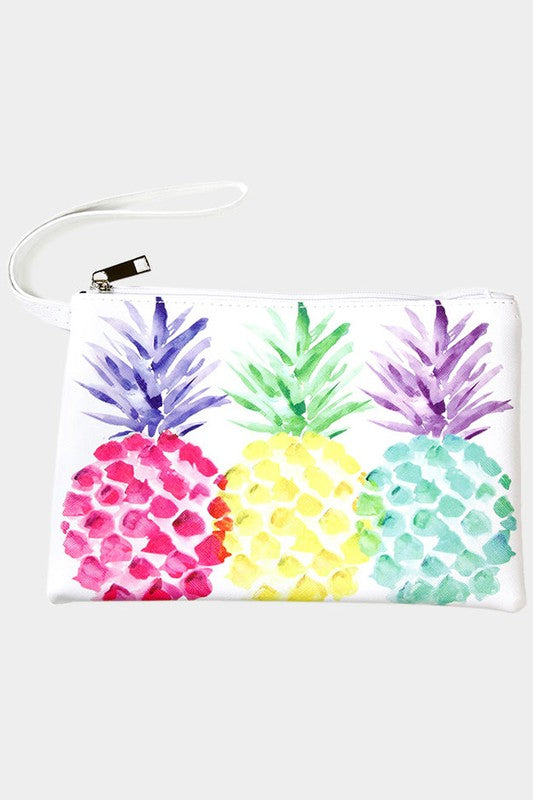Multi Colored Pineapple Smooth Linen Bag