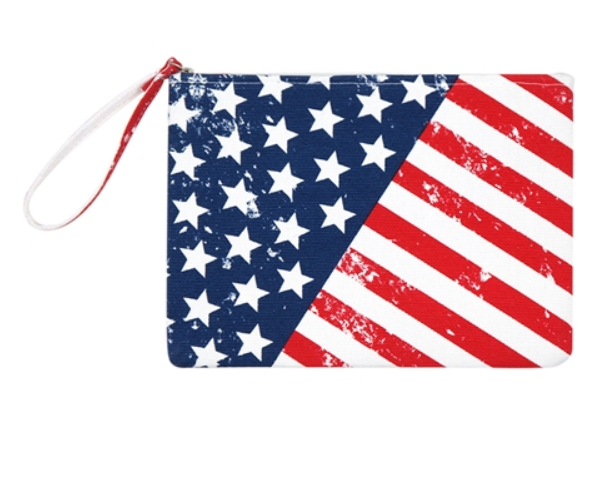 American Flag Pouch with Wristlet