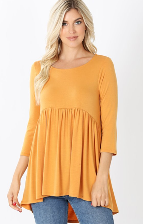 The Annie - Women's Top in Mustard