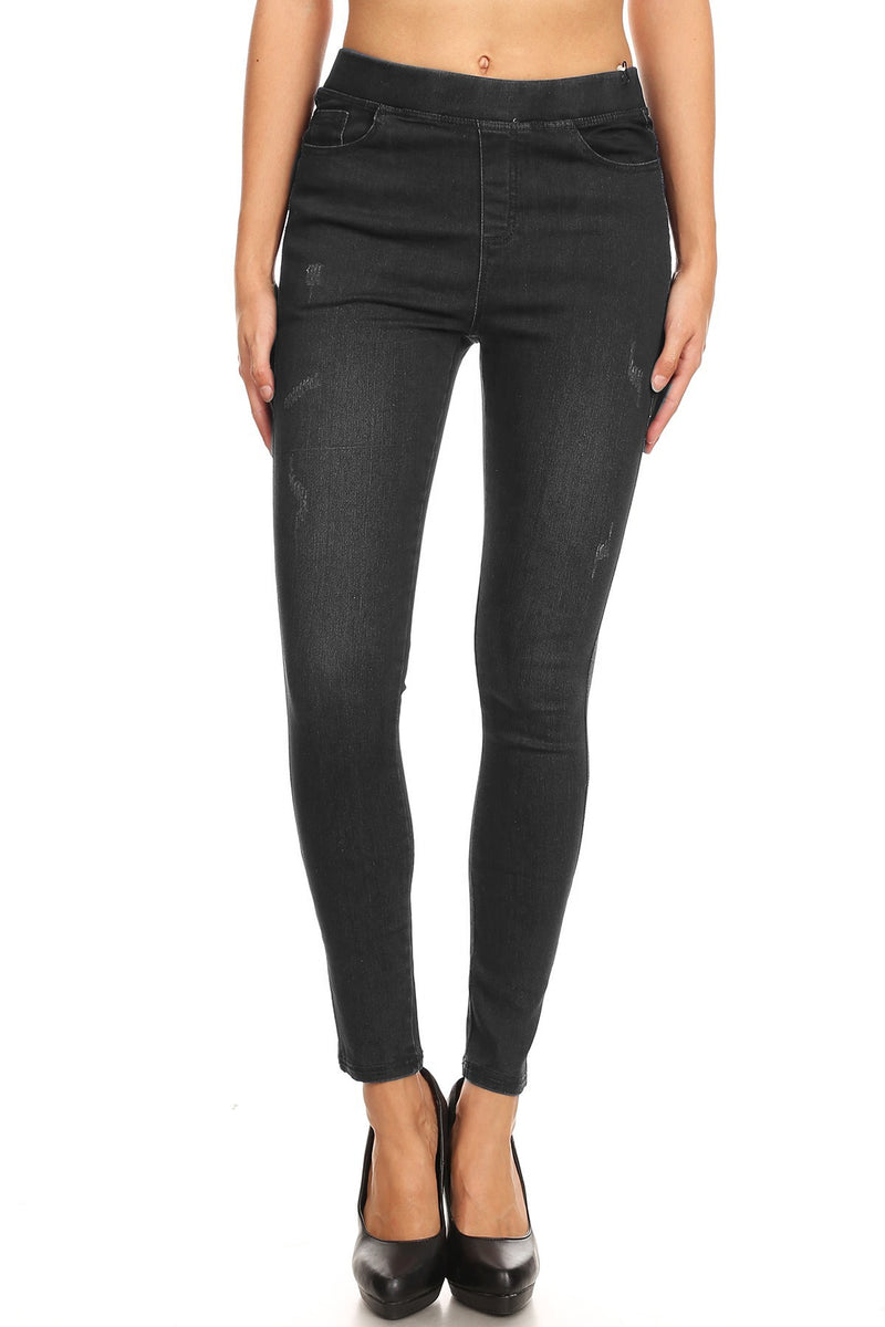 Denim Jeggings in Black - Women's