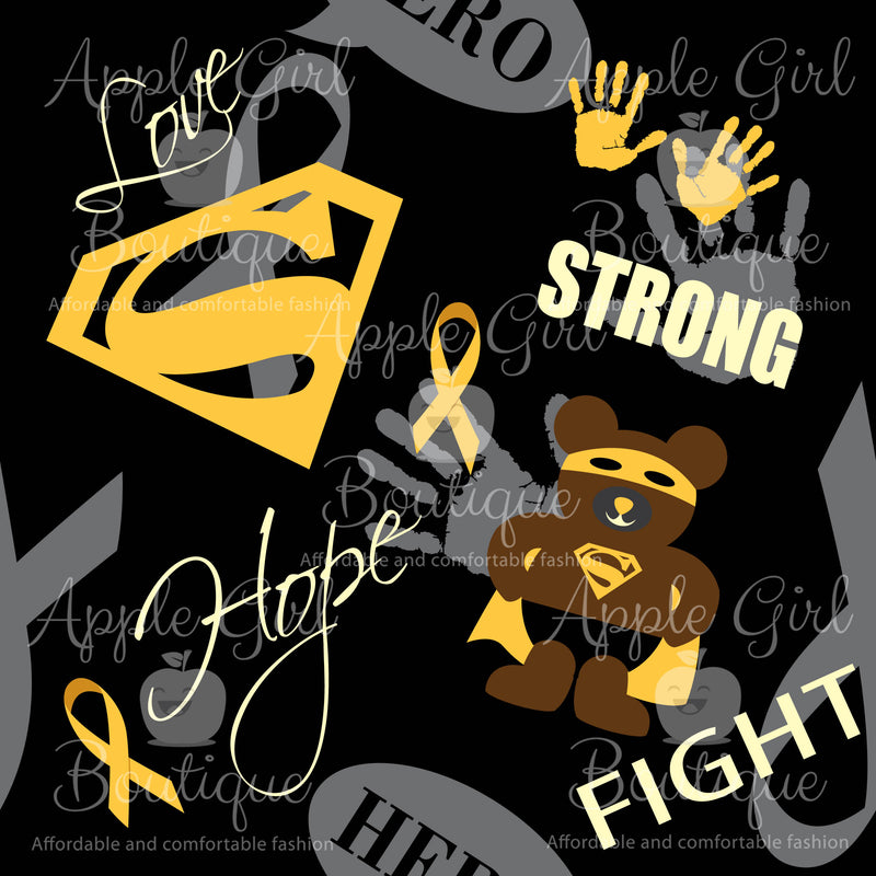 Superhero Fighter - Childhood Cancer Awareness Leggings Women's - PREORDER