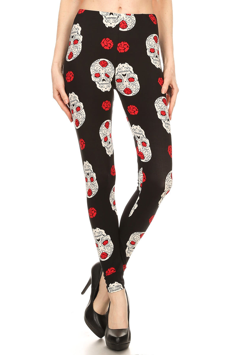 Skulls 'N Roses - Women's Plus Size Leggings