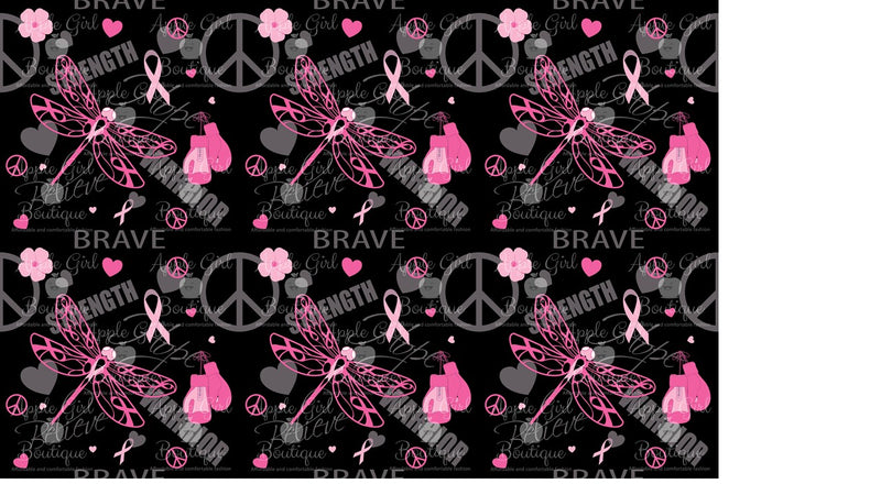 Fight Like a Warrior - Women's Breast Cancer Awareness Leggings