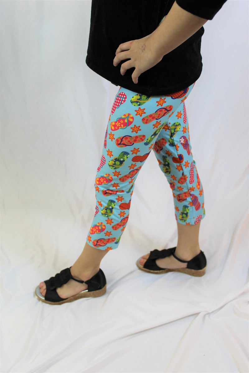 Flippin Through Summer Capris - Girls-