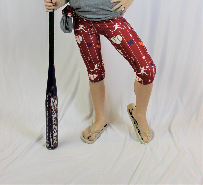 Phillies Have My Heart Capris - Girls