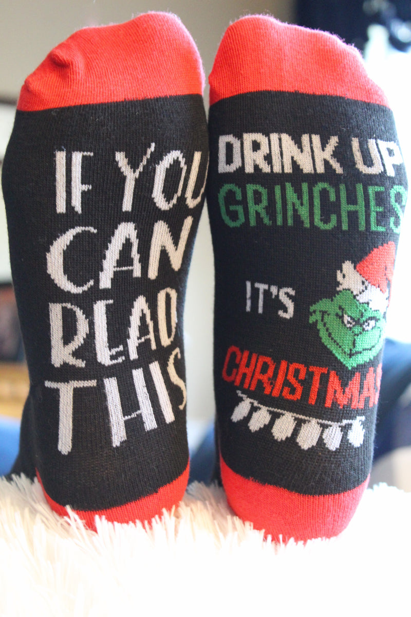 Drink Up Grinches Socks
