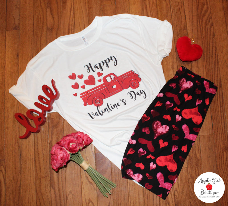 Happy Valentine's Day Truck - Women's Top