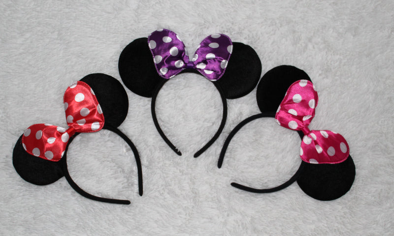 Polka Dot Bow Mouse Ears