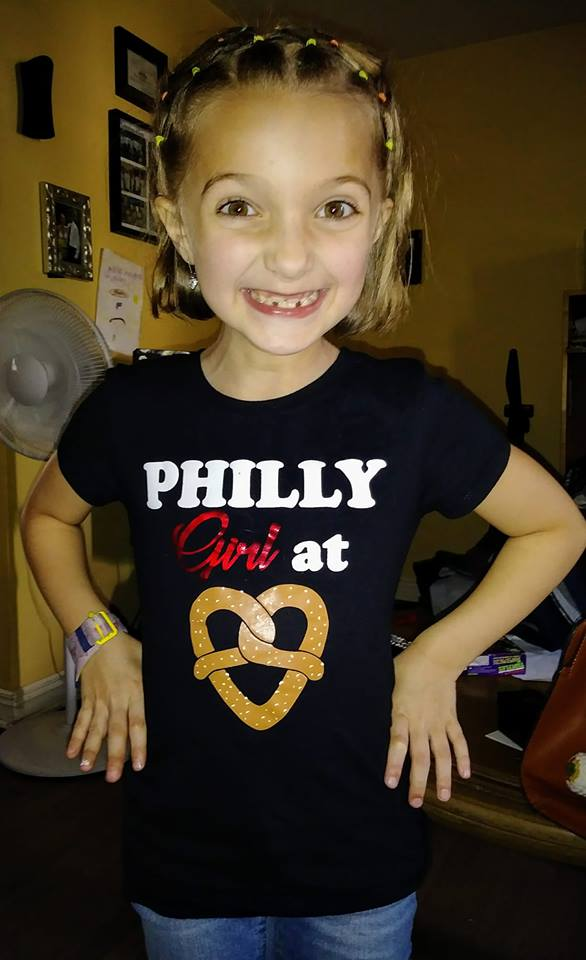 Philly Girl at Heart Pretzel Girls Top