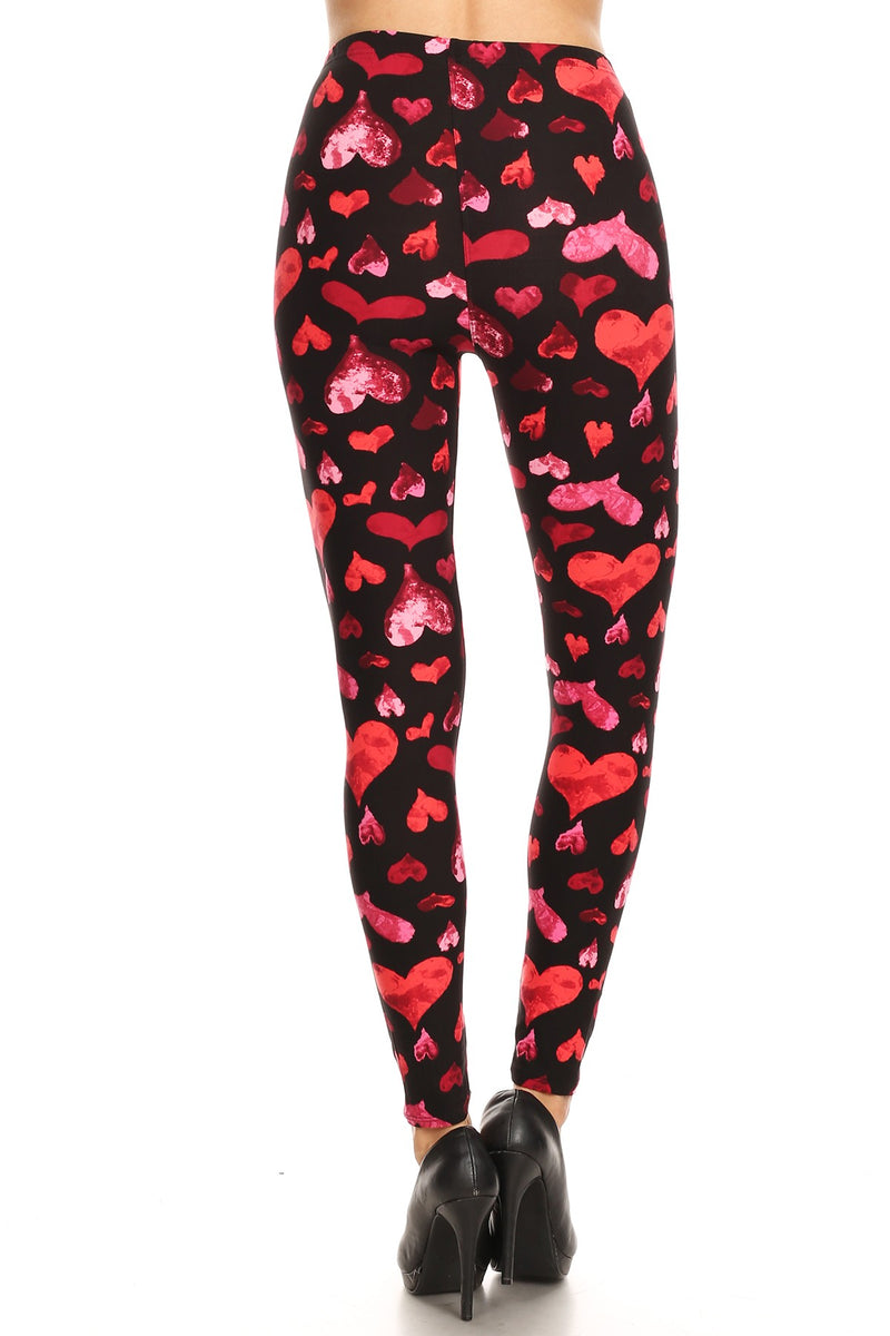 Adoring Watercolor - Women's 3X-5X Size Leggings