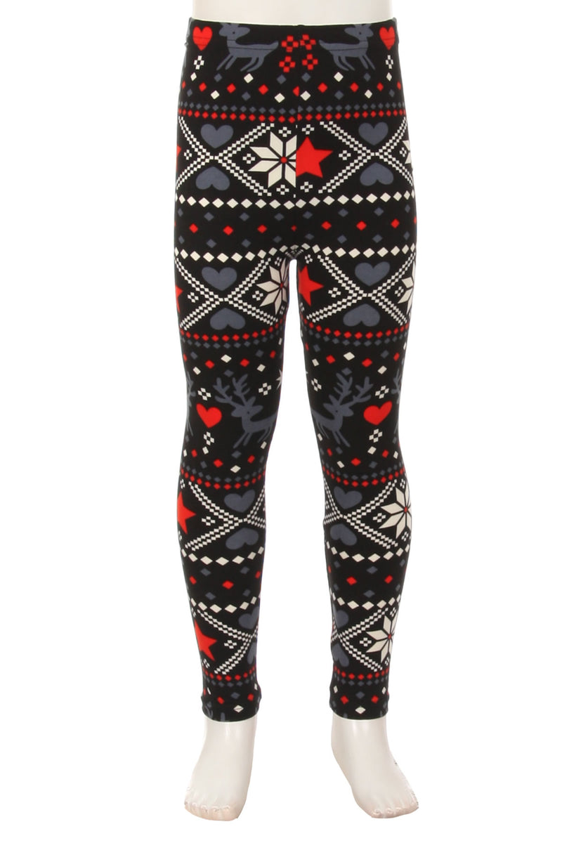 Reindeer Romance - Girls Leggings