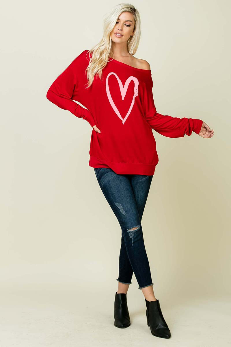 The Desiree - Women's Top in Red