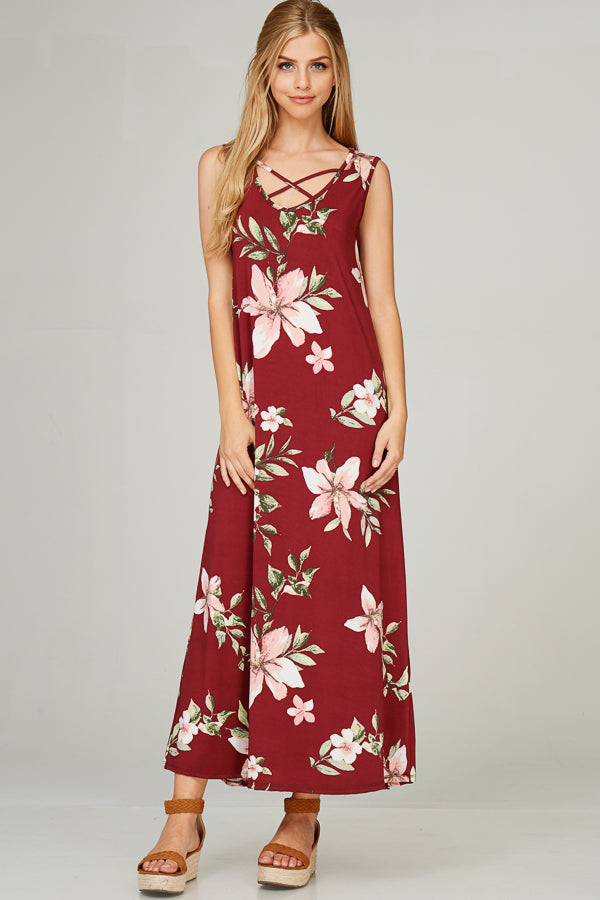 The Lola - Women's Floral Maxi Dress