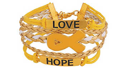 Gold Ribbon Childhood Cancer Awareness Bracelet