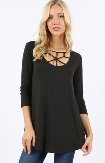 The Marci - Women's Top in Black
