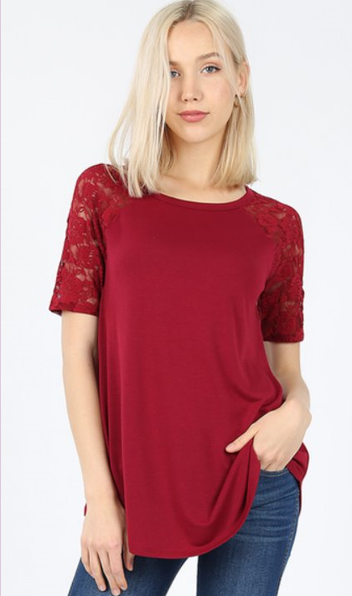 The Melissa - Women's Top in Cabernet