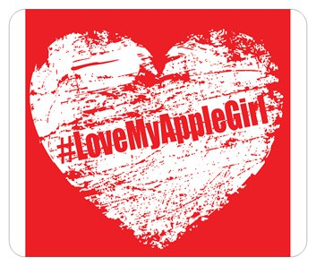 #LoveMyAppleGirl Mouse Pad