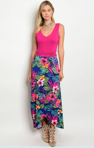 Women's Floral Maxi Dress - Apple Girl Boutique