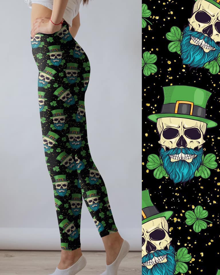 Paddy Skulls - Women's Plus TC Size Leggings