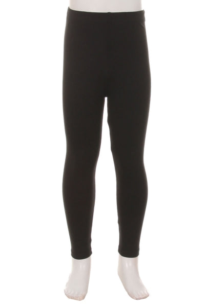 Black Solid - Girls Leggings