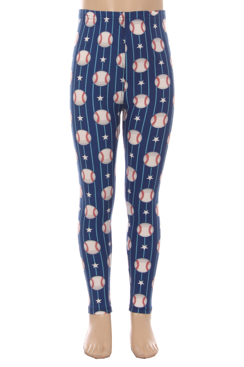 Batter Up - Girls Leggings
