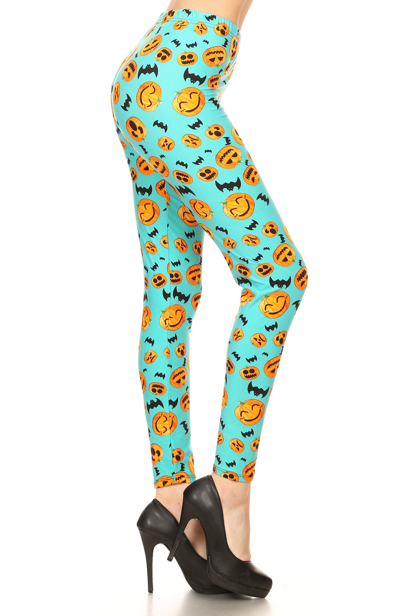 Women's Halloween Pumpkin Leggings - Apple Girl Boutique