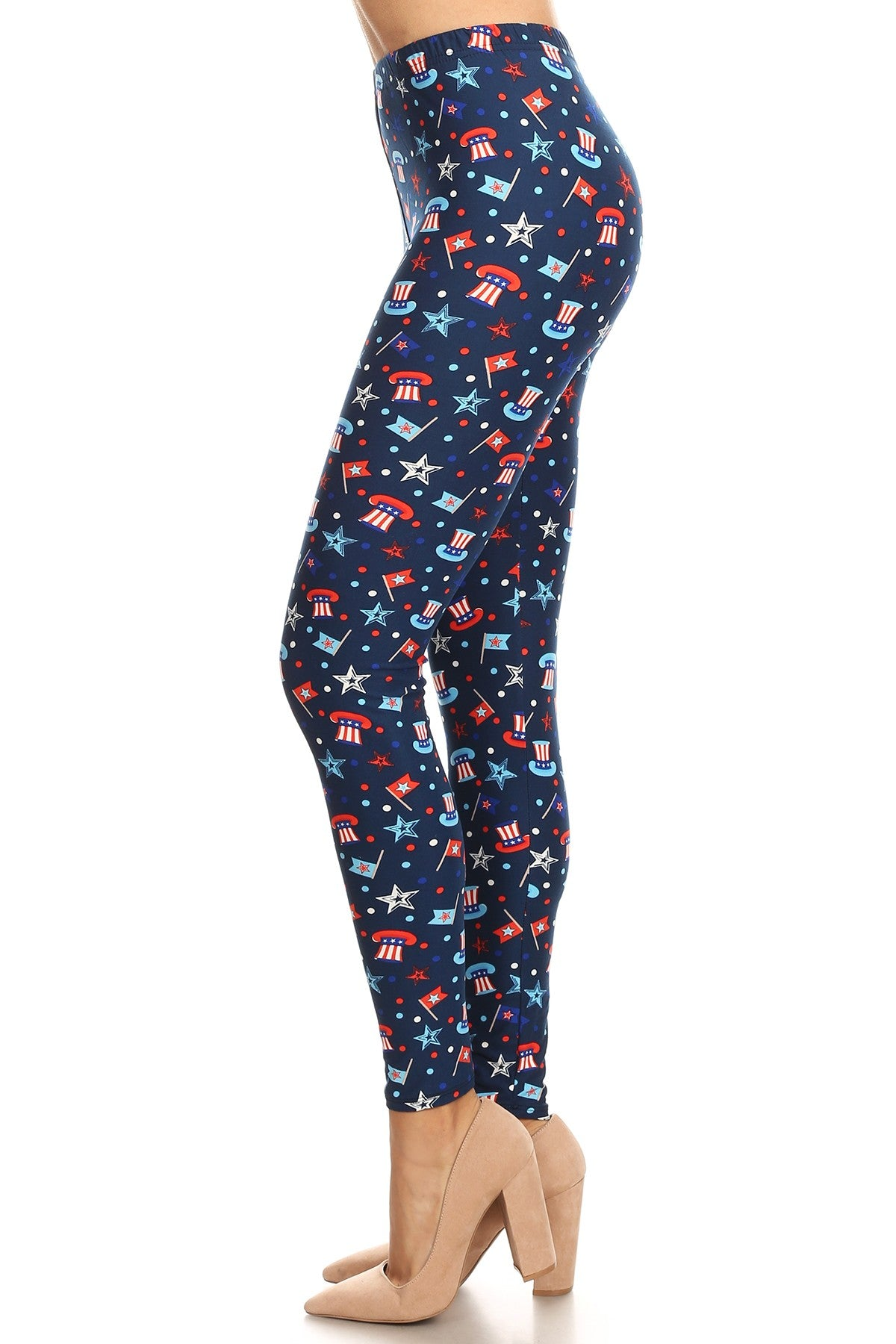 Hats Off America - Women s Plus Size 3X 5X Leggings – Apple Girl ... b77e67a9fe5