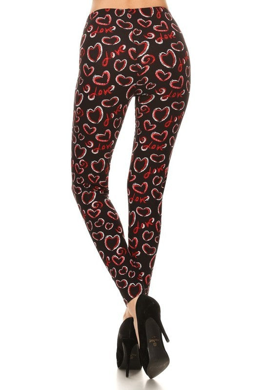 Chalk It Up to Love - Women's Extra Plus Size Leggings