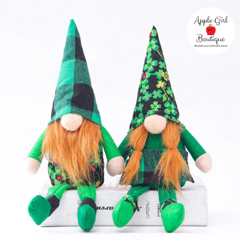 Four Leaf Clover Gnome Couple