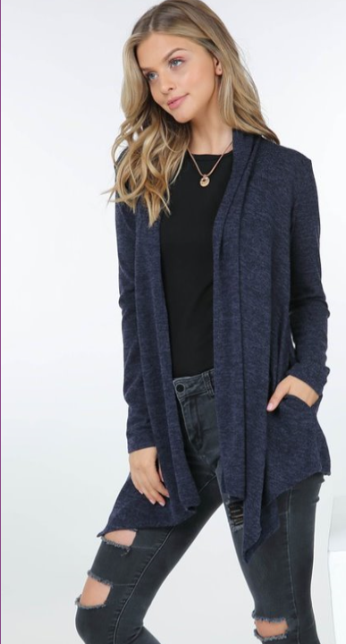 The Tiffany - Women's Cardigan in Navy