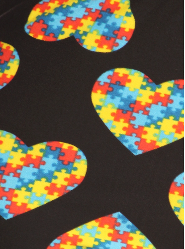 Autism Awareness Heart Leggings - Girls