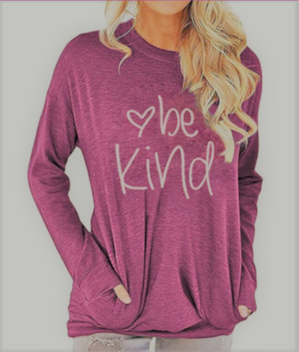 Be Kind - Women's Top in Heathered Cranbury