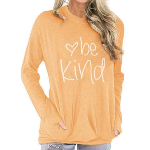 Be Kind - Women's Top in Heathered Yellow