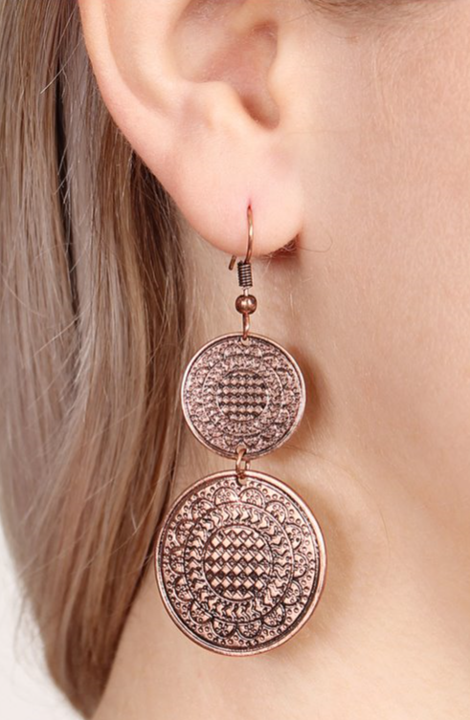 Rose Gold Drop Moroccan Earrings